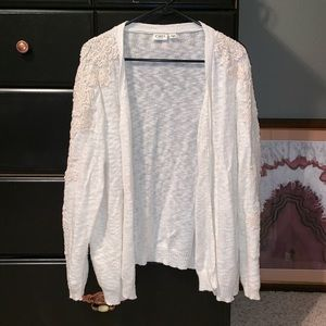 Cardigan with Lace Details